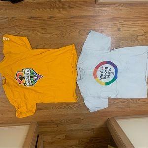 We all belong pride shirts large size